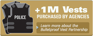 More than 1 million vests purchased by agencies; learn more about the Bulletproof Vest Partnerhip
